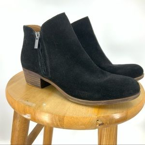 Lucky brand Barough Black suede ankle boots